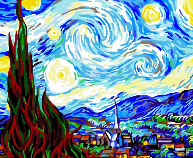 """""""Ван Гог. Звездная ночь"""""""