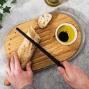 Доска разделочная бамбуковая с подносом (390х230х25 мм) — фото, картинка — 6