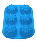 Форма силиконовая для выпекания кексов (275x180x30 мм; голубой) — фото, картинка — 1