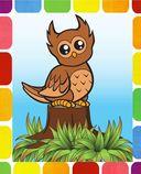 Лесные малыши. Раскрась по образцу — фото, картинка — 6