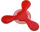 Летающий диск (красный, арт. 549421) — фото, картинка — 1