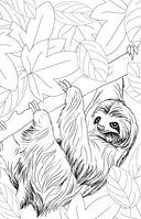 Удивительные животные. Мини-раскраска-антистресс для творчества и вдохновения — фото, картинка — 13