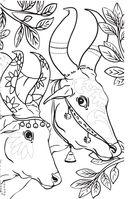 Удивительные животные. Мини-раскраска-антистресс для творчества и вдохновения — фото, картинка — 6