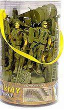 Набор солдатиков (3 шт.; с аксессуарами) — фото, картинка — 1