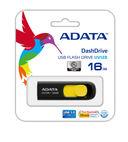 USB Flash Drive 16Gb A-Data UV128 USB 3.0 (Black/Yellow) — фото, картинка — 1